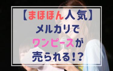 【山口真帆】まほほんスナイデルワンピースがメルカリで3万で売られる!
