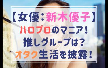 新木優子はハロプロ大好きマニア!推しグループは?しゃべくりでオタク生活を披露してドン引きされる?