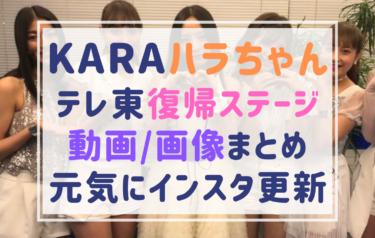 ハラ(HARA)復帰おめでとう!テレ東音楽祭の画像・動画まとめ!衣装でハプニングもプロ意識で乗り切る!インスタ更新でも元気!