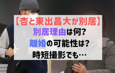 杏と東出の別居理由は?離婚の可能性を復帰後のインタビューから探る!